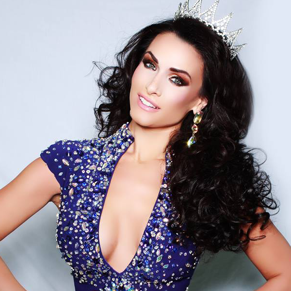 Vincenza Wearing the Miss Delaware 2014 Crown